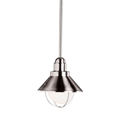 Kichler Outdoor Hanging Pendant 1 Light in Brushed Nickel