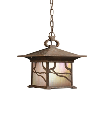 Kichler 9837DCO Outdoor Hanging Pendant 1 Light in Distressed Copper