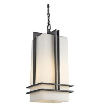 Kichler 49205BK Tremillo 1 Light Incandescent Outdoor Hanging Pendant in Black (Painted)