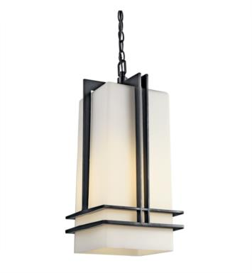 Kichler 49205BKFL Tremillo 1 Light Fluorescent Outdoor Hanging Pendant in Black (Painted)