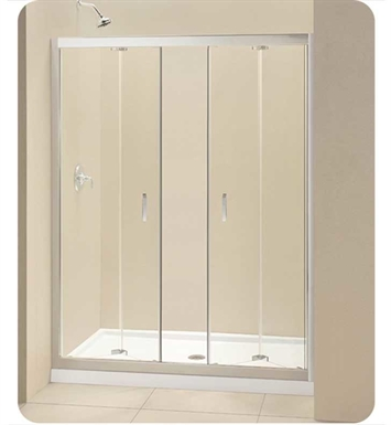 DreamLine DL-621 Butterfly Bi Fold Frameless Shower Door and Base Kit