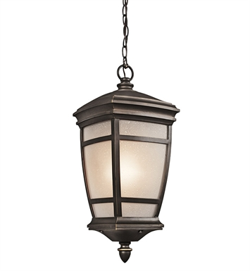 Kichler 49276RZ Outdoor Hanging Pendant 1 Light in Rubbed Bronze