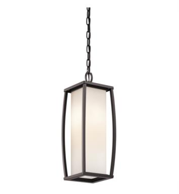 Kichler 49341AZ Bowen 2 Light Incandescent Outdoor Hanging Pendant in Architectural Bronze