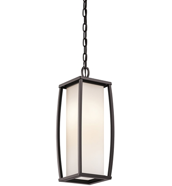 Kichler 49341AZ Outdoor Hanging Pendant 2 Light in Architectural Bronze