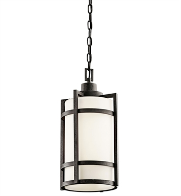 Kichler 49124AVIFL Outdoor Pendant 1 Light Fluorescent in Anvil Iron