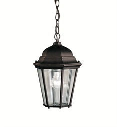 Kichler Outdoor Hanging Pendant 1 Light in Black