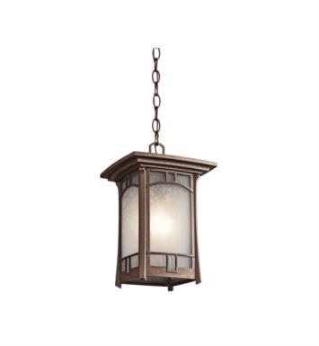 Kichler 49452AGZ Soria 1 Light Incandescent Outdoor Hanging Pendant in Aged Bronze