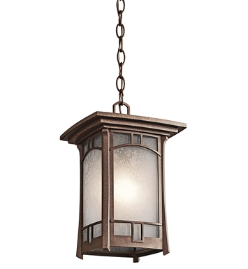 Kichler 49452AGZ Outdoor Hanging Pendant 1 Light in Aged Bronze