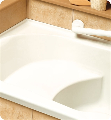 "Neptune SB60TAMG Sara 60"" Customizable Rectangular Bathroom Tub with Optional Seat - No Skirt With Jet Mode: Whirlpool + Mass-Air + Activ-Air Jets And Drain Position: Left Side - Integrated Tiling Flange"
