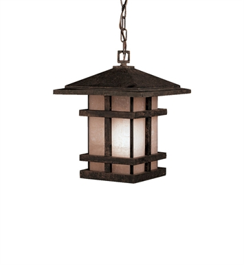 Kichler Outdoor Hanging Pendant 1 Light in Aged Bronze