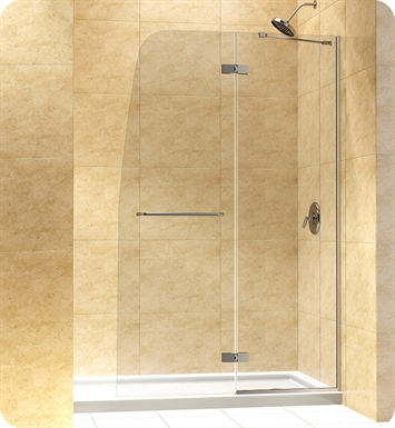 "DreamLine DL-6522L-01CL Aqua Ultra Shower Door and Base Kit With Dimensions: W 60"" x D 34"" x H 74 3/4"" And Finish: Chrome And Glass Type: Clear Glass And Drain Position: Left Drain"