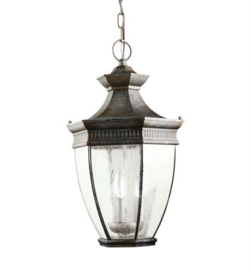Kichler 9371TZ Warrington 3 Light Incandescent Outdoor Hanging Pendant in Tannery Bronze