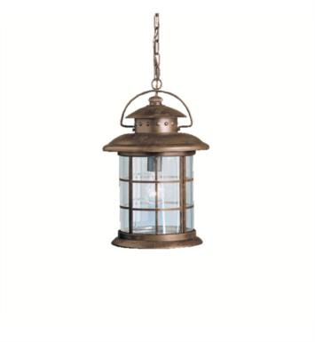 Kichler 9870RST Rustic 1 Light Incandescent Outdoor Hanging Pendant in Rustic