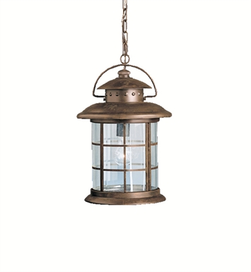 Kichler 9870RST Outdoor Hanging Pendant 1 Light in Rustic