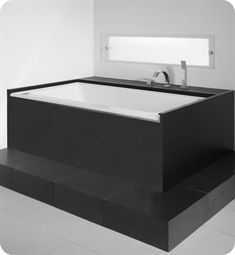 "Neptune Zora 66"" x 36"" Customizable Rectangular Bathroom Tub"