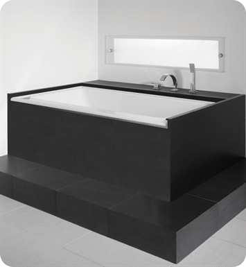 "Neptune ZB3666CG Zora 66"" x 36"" Customizable Rectangular Bathroom Tub With Jet Mode: Whirlpool + Mass-Air Jets And Drain Position: Left Side - Integrated Tiling Flange"