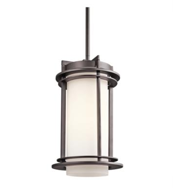 Kichler 49348AZ Pacific Edge 1 Light Incandescent Outdoor Hanging Pendant in Architectural Bronze