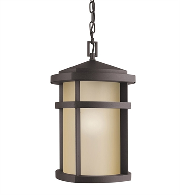 Kichler 9567AZ Outdoor Hanging Pendant 1 Light in Architectural Bronze