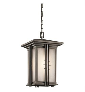 Kichler 49161OZ Portman Square 1 Light Incandescent Outdoor Hanging Pendant in Olde Bronze