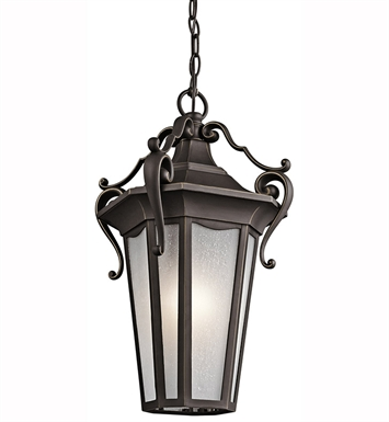 Kichler 49419RZ Outdoor Hanging Pendant 1 Light in Rubbed Bronze
