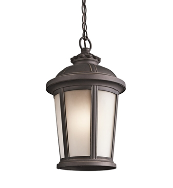 Kichler 49412RZ Outdoor Hanging Pendant 1 Light in Rubbed Bronze