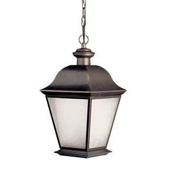 Kichler 10910OZ Outdoor Pendant 1 Light Fluorescent in Olde Bronze