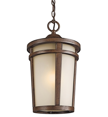 Kichler 49075BST Outdoor Hanging Pendant 1 Light in Brown Stone