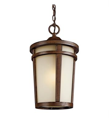 Kichler 49075BSTFL Atwood 1 Light Fluorescent Outdoor Hanging Pendant in Brown Stone