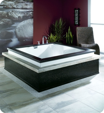 "Neptune Macao 60"" Customizable Square Bathroom Tub With Jet Mode: Whirlpool + Mass-Air + Activ-Air Jets"