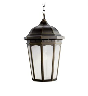 Kichler 11016RZ Courtyard 1 Light Compact Fluorescent Outdoor Hanging Pendant in Rubbed Bronze