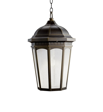 Kichler 11016RZ Outdoor Pendant 1 Light Fluorescent in Rubbed Bronze