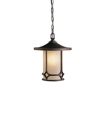 Kichler 9827AGZ Outdoor Pendant 1 Light in Aged Bronze