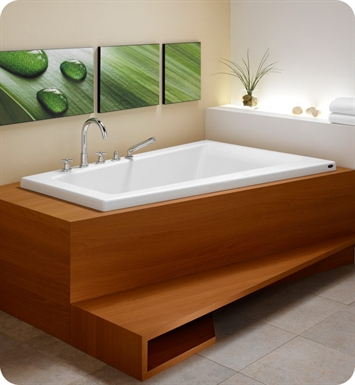"Neptune BO66Q Bora 66"" Customizable Corner Bathroom Tub With Jet Mode: Tonic Jets"
