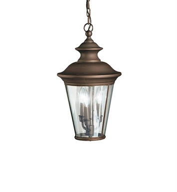 Kichler 9847OZ Outdoor Hanging Pendant 3 Light in Olde Bronze