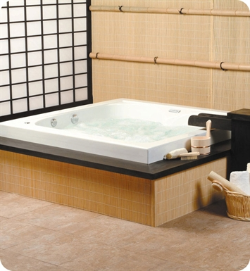 Neptune TO60S Tokyo Customizable Square Bathroom Tub With Jet Mode: No Jets (Bathtub Only)