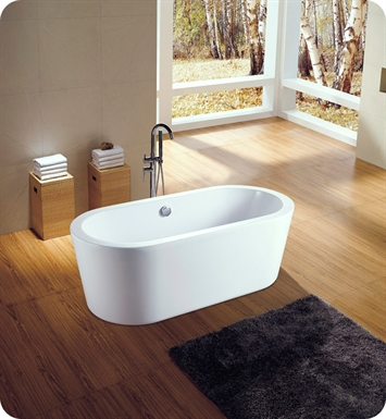 "Neptune AZ3260OS Amaze 60"" Freestanding Oval Bathroom Tub"