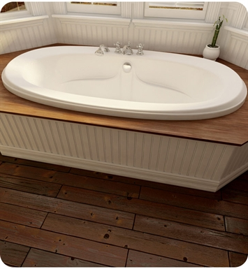 "Neptune FE72C Felicia 72"" Customizable Oval Bathroom Tub With Jet Mode: Whirlpool + Mass-Air Jets"