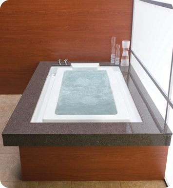 "Neptune Kara 77"" Customizable Rectangular Bathroom Tub With Jet Mode: Mass-Air Jets"