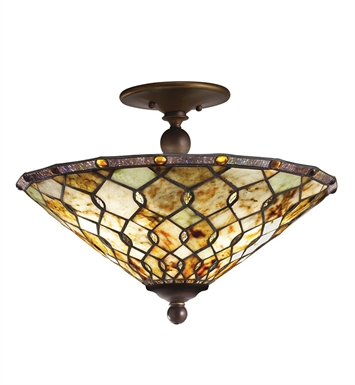 Kichler 65372 Woodbury Collection Semi Flush 3 Light in Oiled Bronze