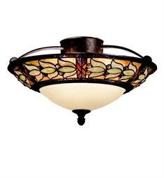 Kichler Art Glass Collection Semi Flush 3 Light