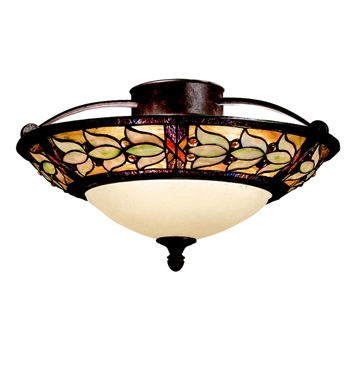 Kichler 69045 Art Glass Collection Semi Flush 3 Light