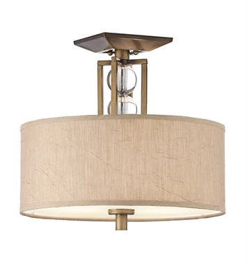 Kichler 42193CMZ Celestial Collection Semi Flush 3 Light in Cambridge Bronze