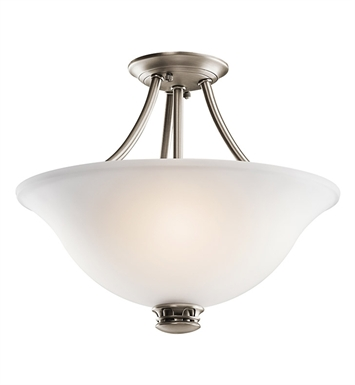 Kichler 42070AP Durham Collection Semi Flush 2 Light in Antique Pewter