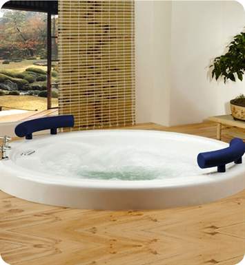 Neptune OS52T Osaka Customizable Round Bathroom Tub With Jet Mode: Whirlpool Jets