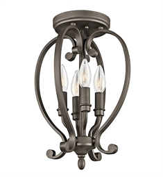 Kichler Monroe Collection Semi Flush Cage 4 Light in Olde Bronze