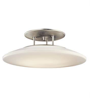 Kichler 10898NI Ara 1 Bulb Fluorescent Semi-Flush Mount Ceiling Light in Brushed Nickel