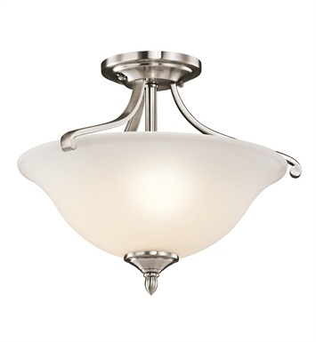 Kichler 43406CLP Wellington Square Collection Semi-Flush 2 Light in Classic Pewter
