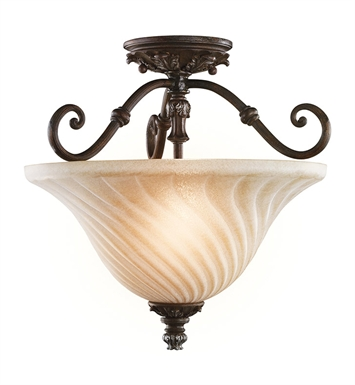 Kichler 42514LZ Sarabella Collection Semi Flush 2 Light in Legacy Bronze