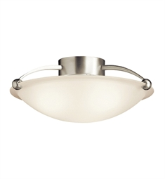Kichler Semi Flush 1 Light Fluorescent in Brushed Nickel
