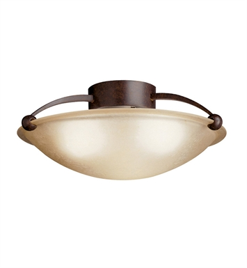 Kichler 10859TZ Semi Flush 1 Light Fluorescent in Tannery Bronze